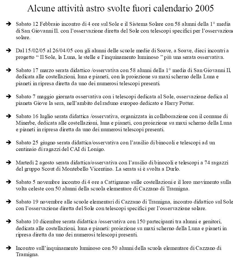Calendario Lunare 2005.Gruppo Gastrofili Val D Alpone Foto Attivita 2005