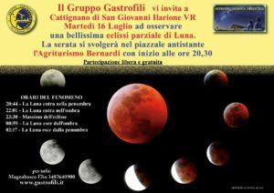 Martedì 16 luglio, presso il piazzale antistante l'Agriturismo Bernardi a Cattignano di San Giovanni Il., dalle ore 20:30, osservazione dell'eclissi parziale di Luna